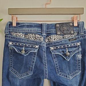 Miss Me Boot Bootcut JP5011-3 Angel Wings Jeans 27